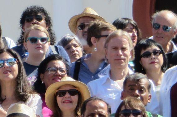 10 Marta Leonor González con otros poetas invitados al XIV Festival de Poesía de Granada (foto de Jacqueline Alencar)