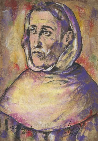 24 Retrato de Fray Luis de León, de Miguel Elías