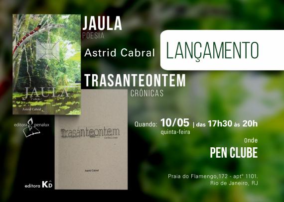 26 Este 10 de mayo se presenta el libro de crónicas 'Jaula', de la poeta brasileña Astrid Cabral