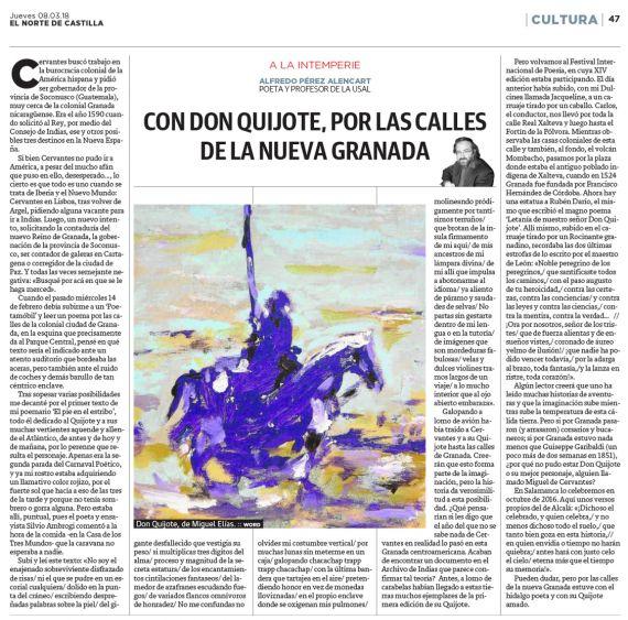 30 Con Don Quijote, por las calles de la nueva Granada