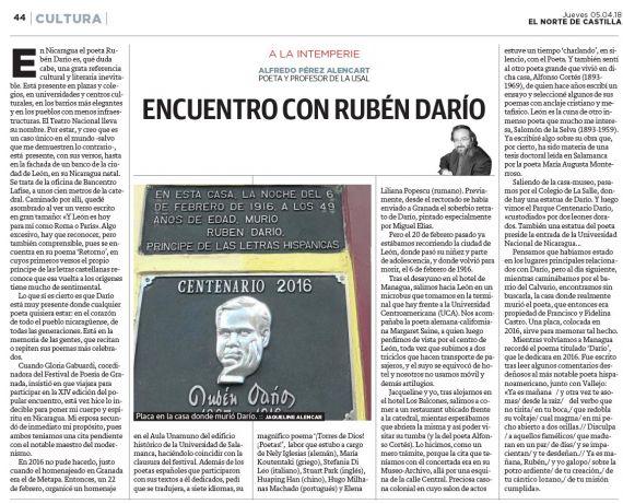 32 Encuentro con Rubén Darío