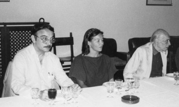 4 Eugenio Montejo, Silvia y Emilio Adolfo Westphanen (Salamanca, 1991. Foro de Jacqueline Alencar)