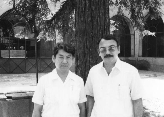5 Pedro Shimose y Eugenio Montejo (Salamanca, 1991. Foro de Jacqueline Alencar)