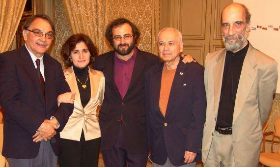 6 Eugenio Montejo, Jacqueline Alencar, A. P. Alencart, Pompeyo del Valle y Raúl Zurita (Salamanca, 2005)