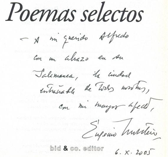 7 Dedicatoria de Eugenio Montejo a A. P. Alencart