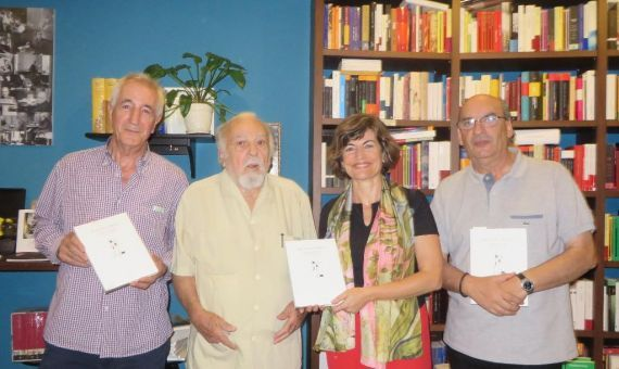 9 Salvador Retana, Antonio Oteyza, María Ángeles Pérez López y J. M. Muñoz Quirós