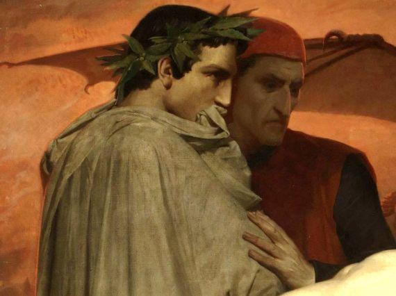 12 Virgilio y Dante, por William Adolphe Bouguereau, 1850