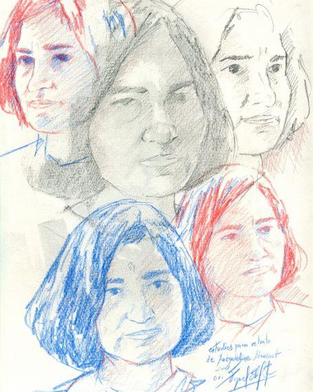 14 Jacqueline Alencar (bocetos de Miguel Elías)