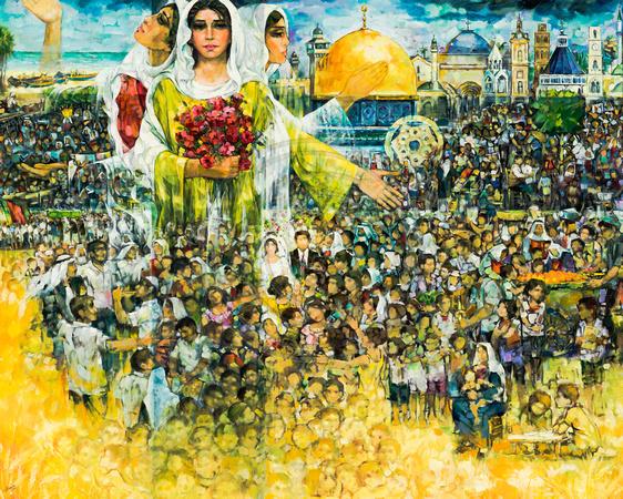 3 Obra del pintor palestino Ismael Shammut
