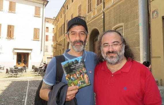 6 Alencart con el poeta Paolo Aldovrandi