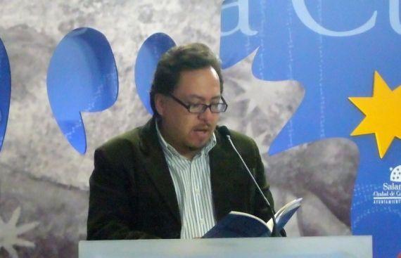 1 El poeta Gabriel Chávez Casazola en la Sala de la Palabra (foto de Jacqueline Alencar)
