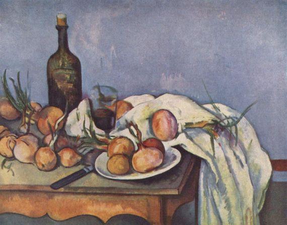 4 Paul Cézanne - Bodegón con botella y cebolla