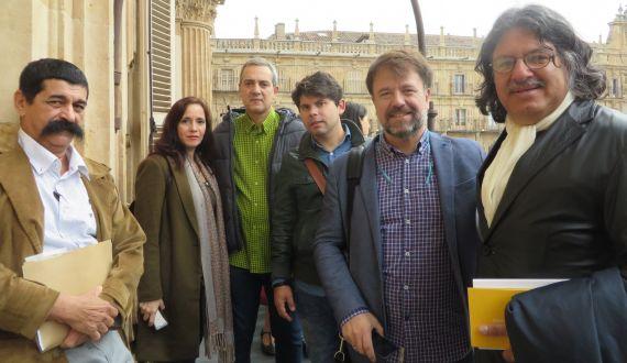 5 Mares, Chillida y su esposa, Galán, García Herrera y San Martín (foto de J. Alencar)