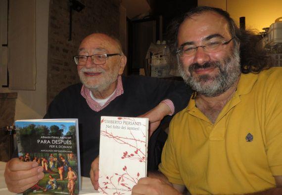 5 Los poetas Umberto Piersanti y A. P. Alencart (Foto de Jacqueline Alencar)