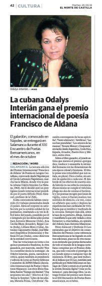 15 Premio Francisco de Aldana. Norte de Castilla