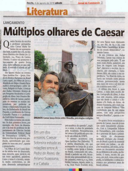 16 Cuatro libros presentados por Caesar Malta Sobreira, doctor por Salamanca (En Olinda)