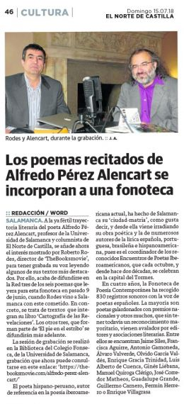 24 Poemas recitados de Alencart (El Norte de Castilla)