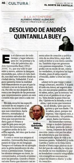 26 Artículo de A. P. Alencart sobre Andrés Quintanilla Buey (La Razón)
