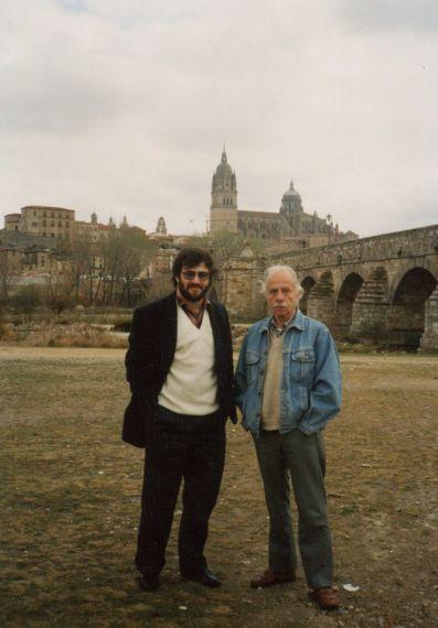 3 A. P. Alencart y Alejandro Romualdo (Salamanca 1992, foto de Jacqueline Alencar)