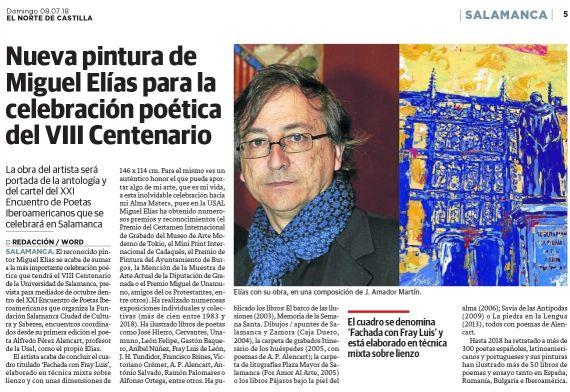 3 Pintura de Miguel Elías para el XXI Encuentro de Poetas Iberoamericanos (El Norte de Castilla)