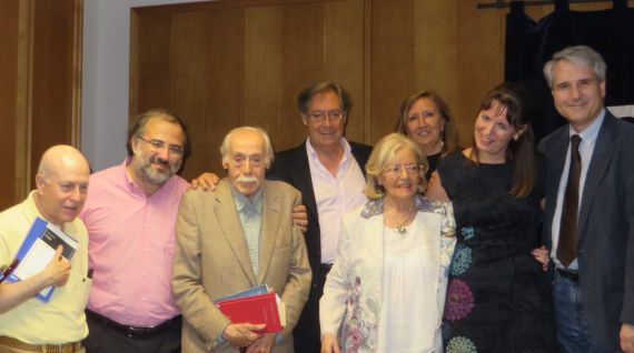 2 Daganzo en Valladolid, tras recibir su premio. Con Sagüillo, Valle Alonso, Tundidor, Alencart y (foto de Jacqueline Alencart, 2018)