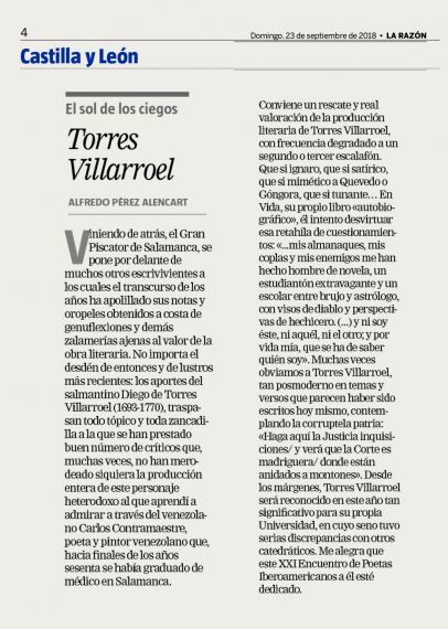 12 Torres Villarroel (de A. P. Alencart)