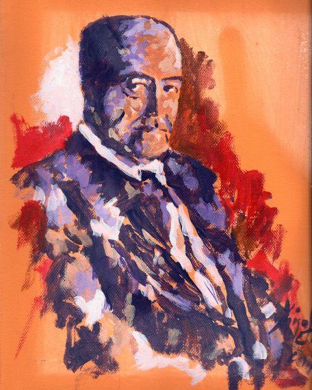 2 Retrato de Gastón Baquero, obra de Miguel Elías (Salamanca, 2014)