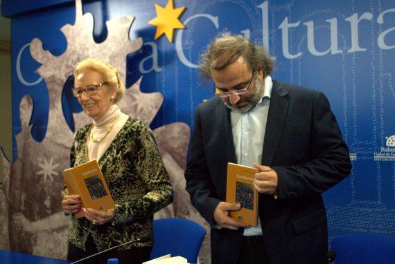 3 Pilar Fernández Labradror y A. P. Alencart, durante la rueda de prensa (foto de José Amador Martín)