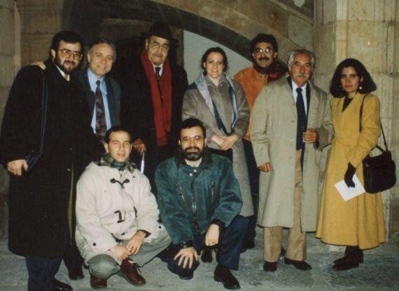 4 Alencart, San Juan, Baquero, Ruiz Barrionuevo, Falla, Thorne, Alencar, Espina y un doctorando chileno, en el Fonseca (1993)