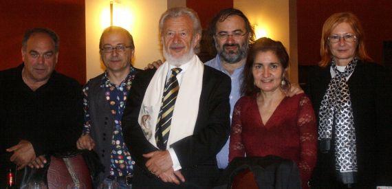9 Amador, Elías, Bilosnic, Alencart, Jacqueline Alencar y Lovrencic en el Colegio Fonseca