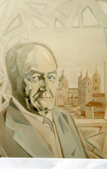 9 Retrato pintado por el francés Sylvain Malet,entonces-residente en Salamanca (1993)