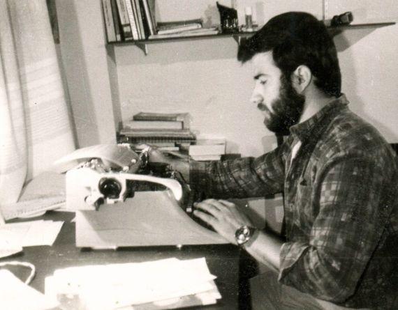 1 El poeta Alfredo Pérez Alencart en Salamanca (1989, foto de Jacqueline Alencar)