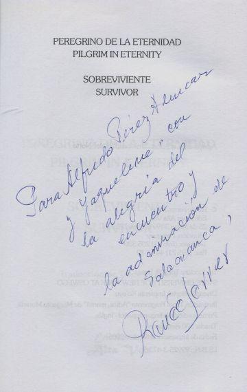 9 Dedicatoria de Renée Ferrer a Alfredo y Jacqueline Alencar