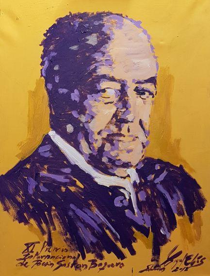 1 Tercer retrato de Gastón Baquero, por Miguel Elías (Salamanca, 2018)