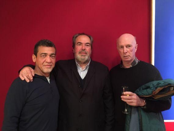 12 León de la Hoz, Felipe Lázaro y Víctor Batista Falla
