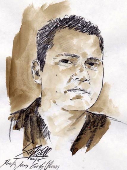 12 Retrato de Juan Carlos Olivas, de Miguel Elías