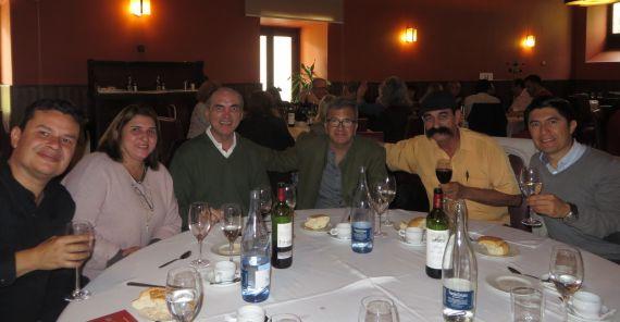 13 Rodrigo con los poetas Juan Mares, Cabarcas, Leite y Anchía (foto de Jacqueline Alencar)