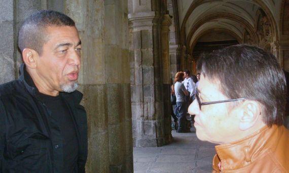 14 Los poetas cubanos León de la Hoz y Lilliam Moro (Salamanca, 2009, foto de Jacqueline Alencar)