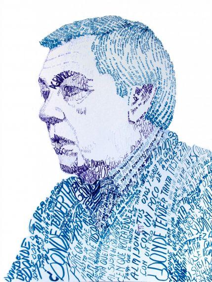 15 Luis Natera, retrato-caligrama de Juana María Navarro