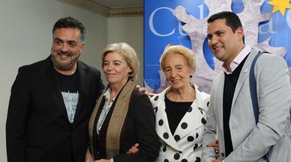 3 El cantante chileno Héctor Molina, María Sanz, Pilar Fernández Labrador y Juan Carlos Olivas
