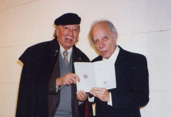 3A Pepe Ledesma y el poeta peruano Alejandro Romualdo, en Salamanca (foto de J. Alencar)
