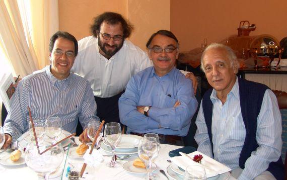 6 José Mármol, A. P. Alencart, Eugenio Montejo y César López (foto de Jacqueline Alencar)