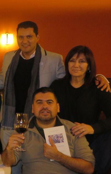 9 Juan Carlos Olivas, Ángela Gentile y Marcelo Gatica en el Colegio Fonseca (foto de Jacqueline Alencar)