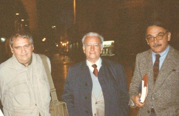 12 Rafael Cadenas, Guillermo Morón y Eugenio Montejo, en Salamanca (Foto de Jacqueline Alencar)