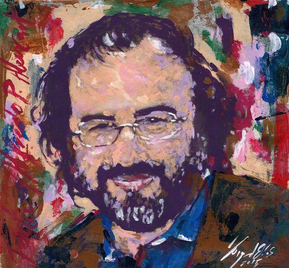 2 Retrato de A. P. Alencart, obra del pintor Miguel Elías