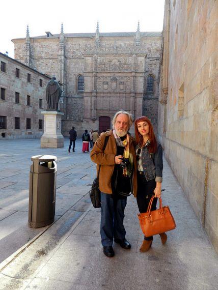 3 Enrique Gracia Trinidad y Angélica Morales, en Salamanca
