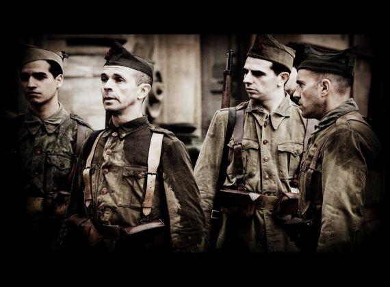 9 Actores representando a militares franquistas (foto de José Amador Martín)