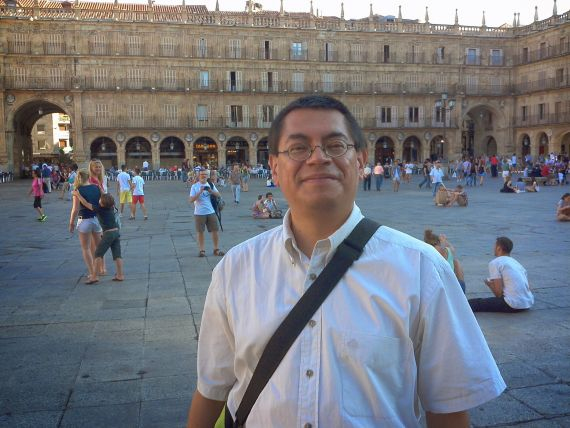 1 Jorge Arzate en la Plaza Mayor de Salamanca