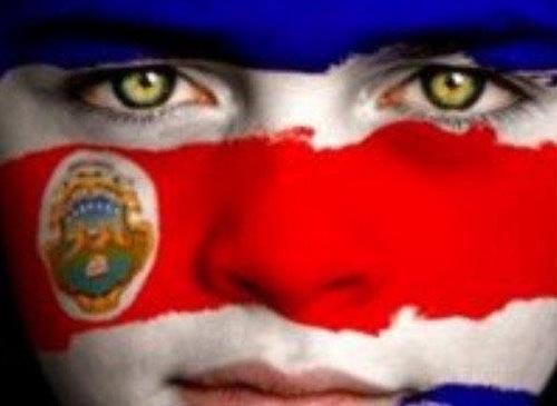 1 Rostro pintado cual bandera de Costa Rica