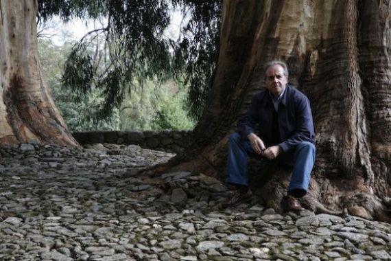 2 Álvaro Valverde en el Cementerio Alemán de Yuste (Foto de Salvador Retana)